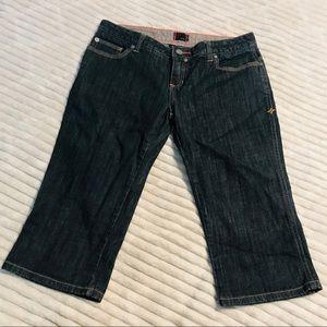 Hurley Dark Rinse Bermuda Long Shorts Capris 7 / 8